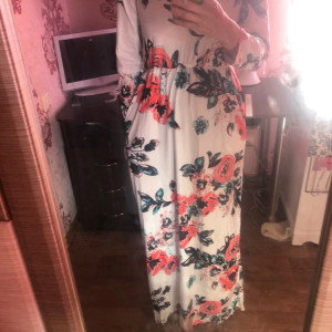 92fdb2b2aed9 ByChicStyle Cheap Ecstatic Harmony White Floral Print Maxi Dress ...
